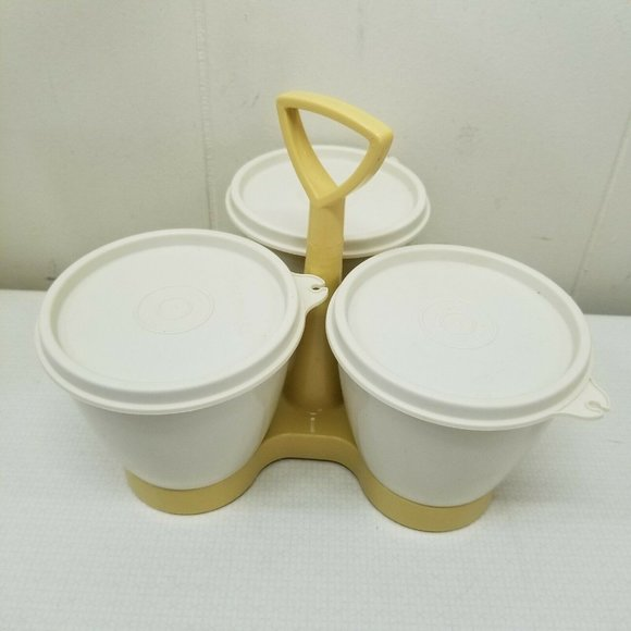Tupperware Other - Tupperware Harvest Gold Caddy 757 Containers Lids